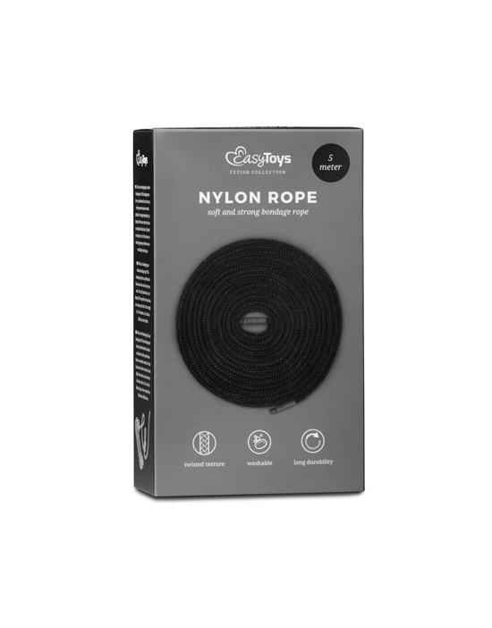 Black Bondage Rope - 5m