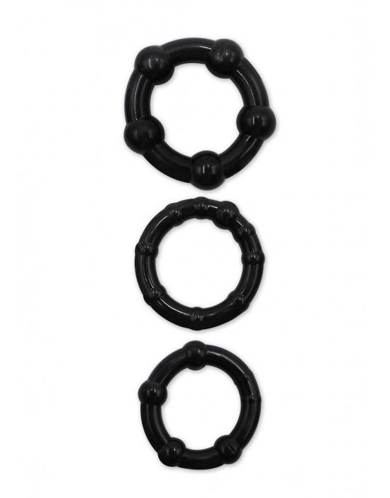 Ringi 3 wielkości black