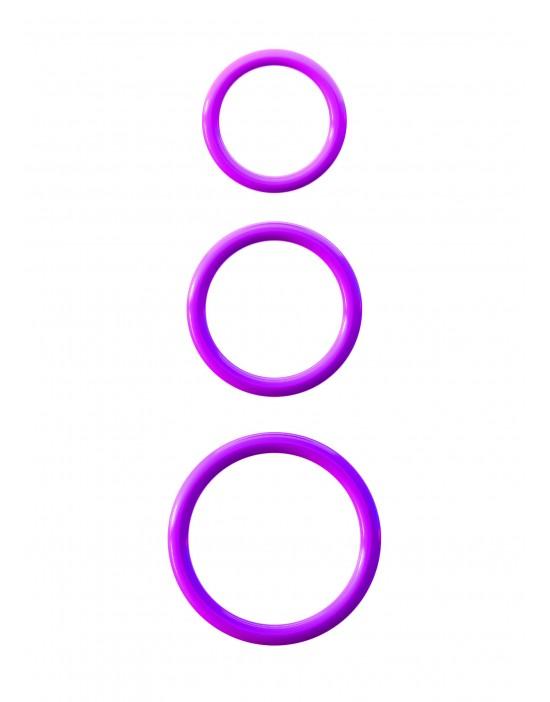 Ringi 3 rozmiary violet