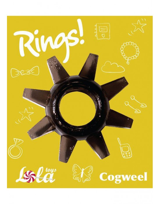 Cockring Rings Cogweel black