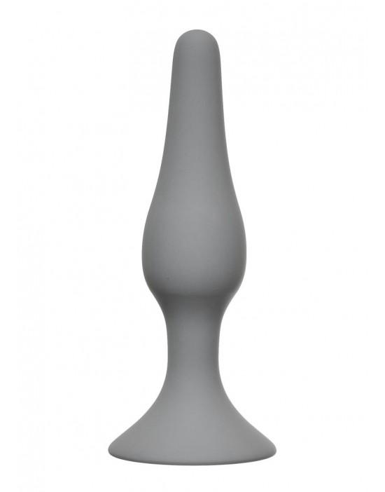 Slim Anal Plug Large Grey