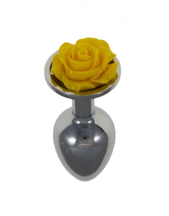 Metal Plug Rose Yellow
