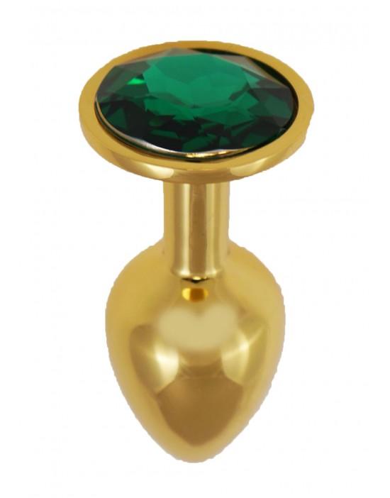 Gold Diamond Plug Green