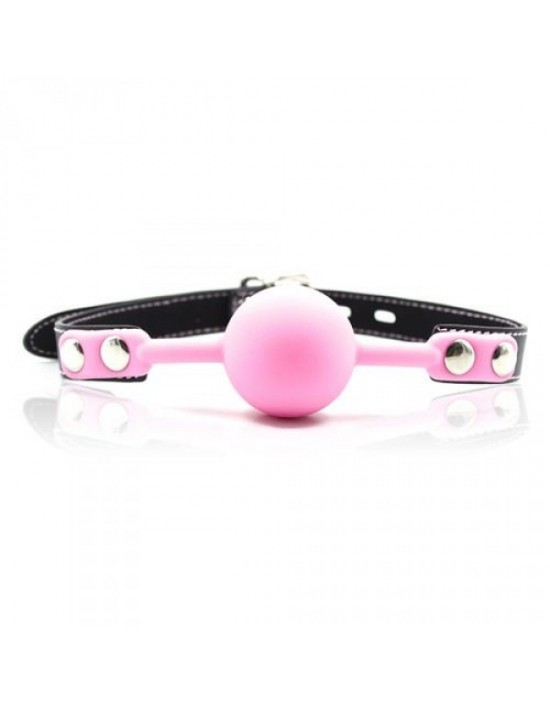 Ball Gag + Block (rosa)