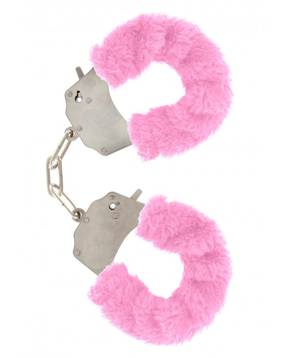 FURRY FUN CUFFS PINK PLUSH