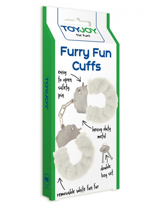 FURRY FUN CUFFS WHITE PLUSH