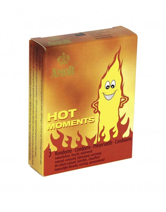 Amor hot  moments condoms 3...