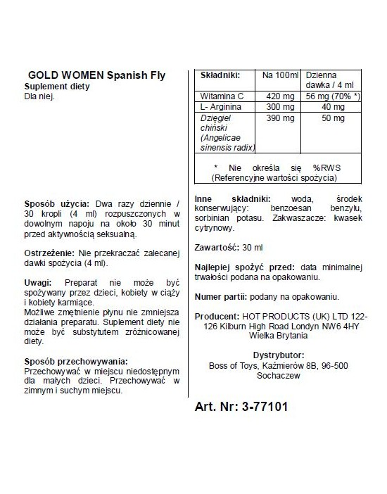 Spain Fly Women- GOLD...