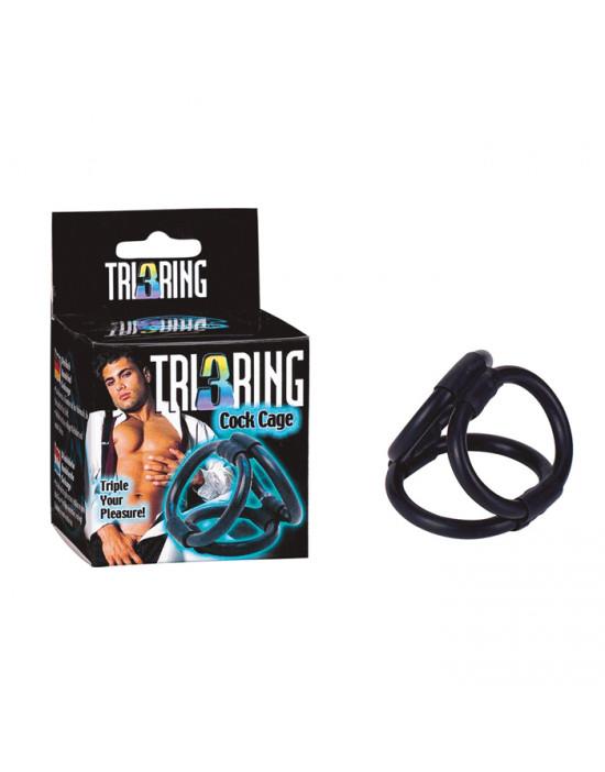 Pierścień-TRI RING COCK...