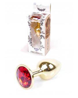Plug-Jawellery Gold PLUG- Red