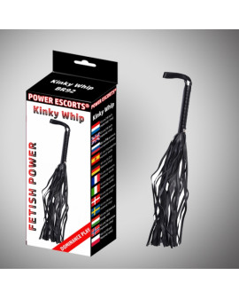 Kinky whipp black  42 cm whipp