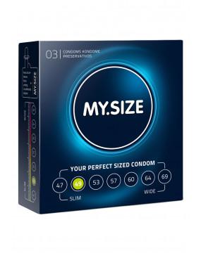 Prezerwatywy-MY.SIZE 49 mm 3er