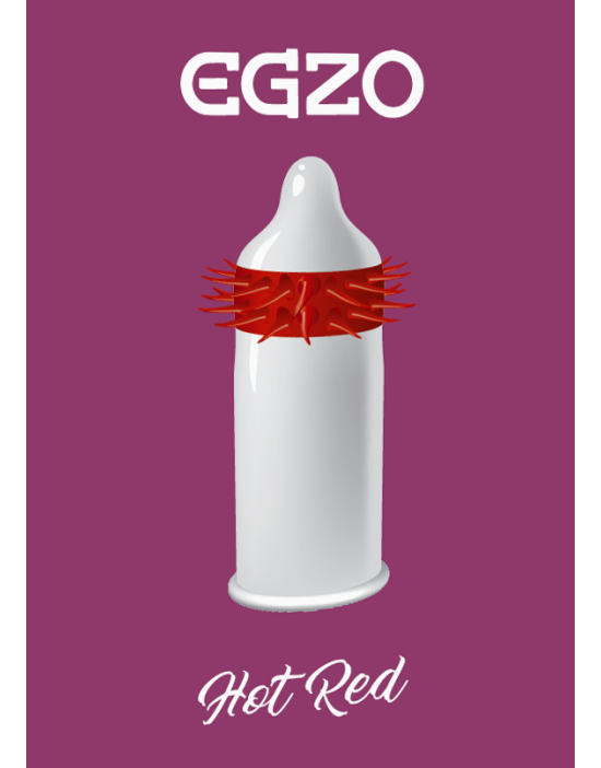 Condom Egzo Hot Red