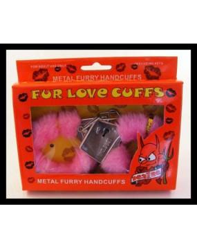 Furry cuffs, colour pink,...
