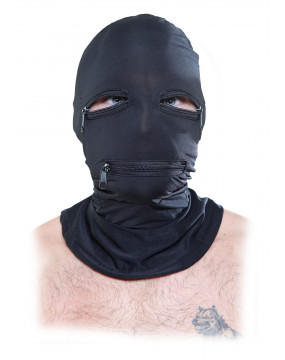 Maska-FF BLACK ZIPPER FACE...