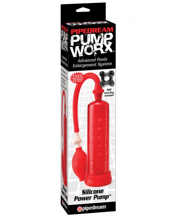 PW SILICONE POWER PUMP RED