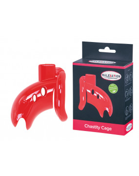 MALESATION Chastity Cage red