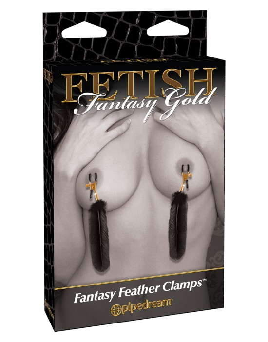 FF GOLD FEATHER NIPPLE CLAMPS