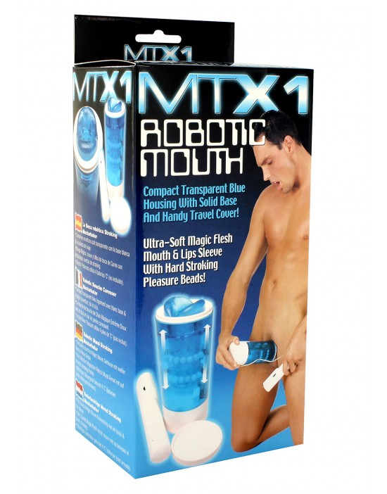 ROBOTIC MOUTH MASTURBATOR BLUE