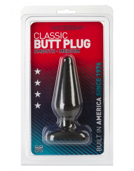 BLACK BUTT PLUG MEDIUM