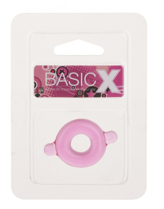 BASICX TPR COCKRING PINK...