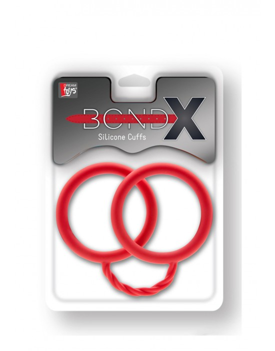 BONDX SILICONE CUFFS RED