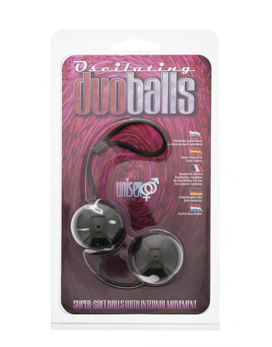 MARBILIZED DUO BALLS - BLACK