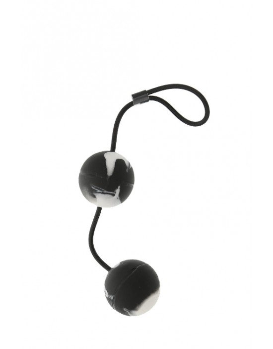 MARBILIZED DUO BALLS - BLACK