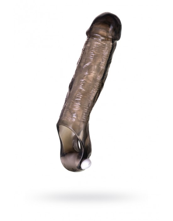 FETISH FANTASY SERIES 8'' VIBRATING HOLLOW STRAP ON