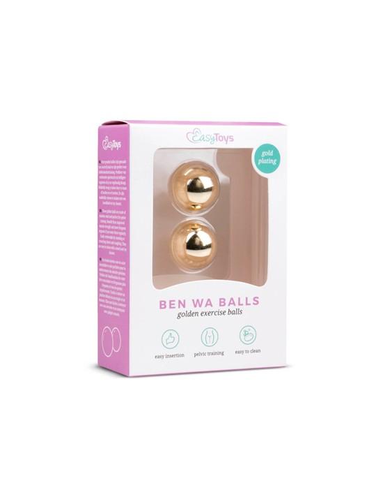 Gold ben wa balls - 22mm